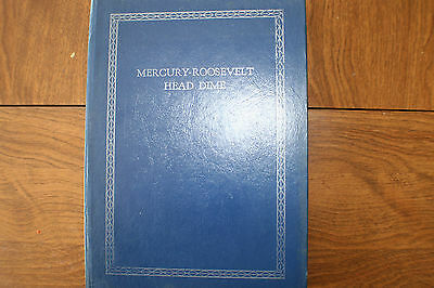 Complete Mercury, Rooseve Dime Set  In Whitman Book 1916-1964 W/ All Key Dates