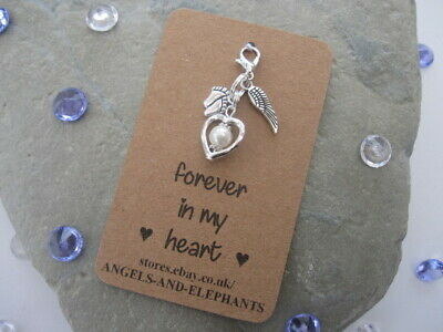 Baby Memorial Charm Gift - Baby Loss / Miscarriage / Memory Box Keepsake  Heart