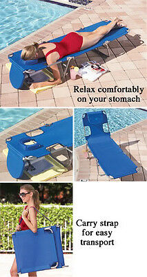 Ostrich Folding Lounge Chair Chaise Seat Pillow Beach Pool Lake Deck Patio River