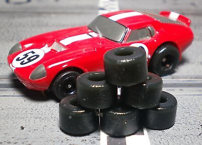 "URETHANE SLOT CAR TIRES 3pr .47"" X .25"" fit most HO Scale flat hub"