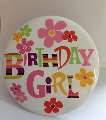 Happy Birthday Girl Badge (15cms size) Party, Event, Occasion, Female