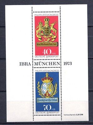 1973 West Germany Stamp Exhibition IBRA MS (SG MS1660) MNH