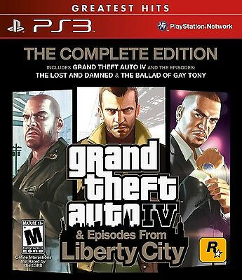 New! Grand Theft Auto IV (The Complete Edition)  (Sony Playstation 3, 2010)