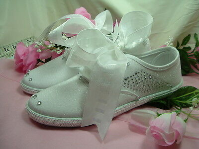 "Wedding Canvas Sneakers White ""NICKI"""