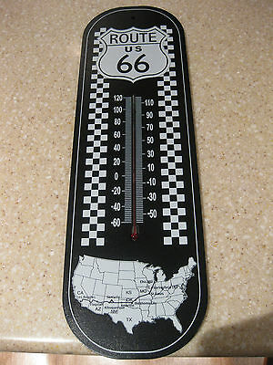 Route 66 Indoor Wooden Thermometer Americas Highway