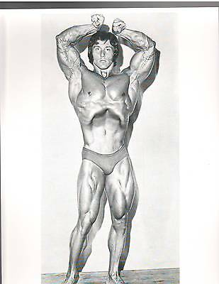 FRANK ZANE 1972 Pro NABBA Mr Universe Muscle Bodybuilding Photo B+W