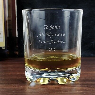 Personalised Whisky Glass-Free Laser Engraving-Great Christmas or Wedding