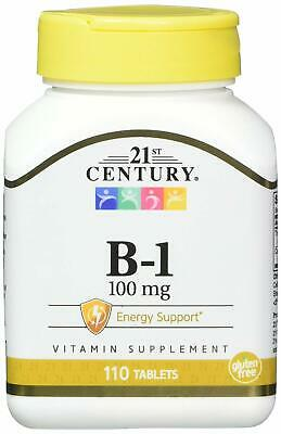21st Century Vitamin B-1 100mg Tablets 110ct -FREE WORLDWIDE SHIPPING-
