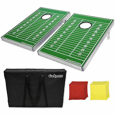 Football Themed Cornhole Set (2 Game Boards, 8 Bags & Carry Case)