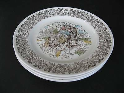 Staffordshire Dickens Series David Copperfield Dinner Plates x 4