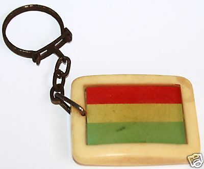 LUXEMBOURG Flag 1960's Vintage Keychain **KEY CHAIN**
