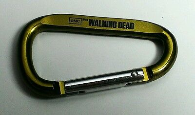 New WALKING DEAD OLIVE PEA GREEN METALLIC D RING CARABINER CLIP HOOK KEYCHAIN