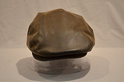 Gents Keep Dry Faux Leather Flat Cap Country Fishing Shooting Water Proof S-Xxl