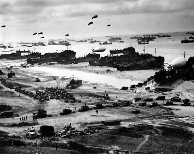 New 8x10 World War II Photo: D-Day Landing at Normandy, Operation Overlord