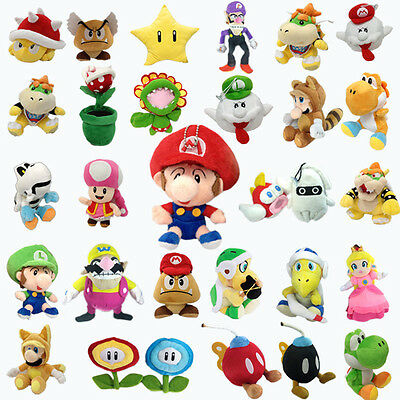 New Super Mario Bros. World Galaxy Plush Character Soft Toy Stuffed Animal Doll