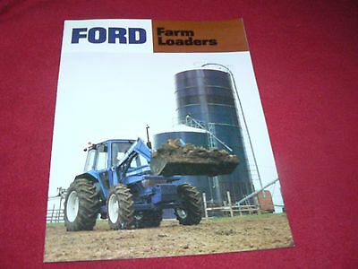 Ford Tractor Farm Loaders Dealer's Brochure AD-1090