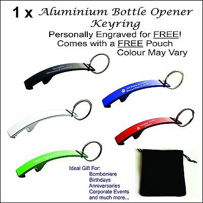 Custom Engraved Personalised Metal Keyring Bottle Opener Gift Wedding Bomboniere