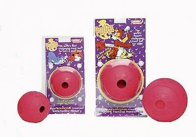 Animal Instincts Puzzla Dog Cat Interactive Treat Bouncing Rubber Ball 2 Sizes