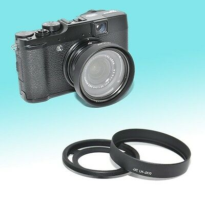LH-X10 Metal Lens Hood for FUJIFILM X20 X30 52mm Adapter Vented Tilted Design