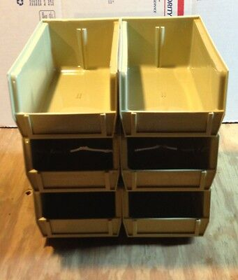 Lot of 6 Reloading Bins/ Replacement for Dillon 550/650 Tan