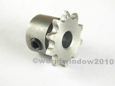 Motor metal sprocket with 04C chain Sprocket pitch 6.35 Teeth 10 Bore 7,8 or 6