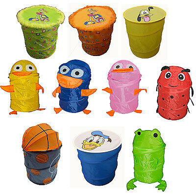 Pop-up Kids Room Animal Storage Wash Laundry Bin Toys Tidy Clothes Basket Shoes