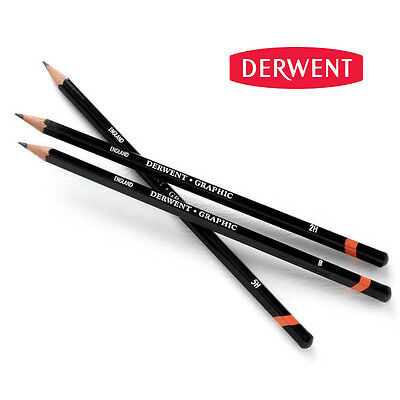 Derwent Graphic Drawing Pencils | Graphite Full Range Soft, Medium & Hard B - H