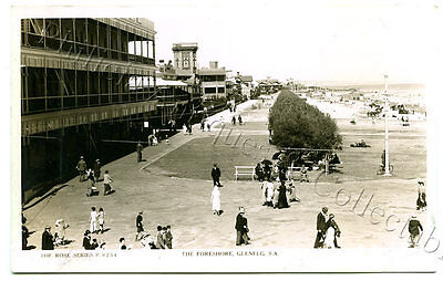 C1930 Rp Npu Postcard Pier Hotel And Foreshore Glenelg South Australia H17