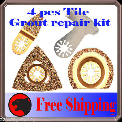 4 Diamond Carbide Grout Oscillating Multi Tool Saw Blade For Bosch Makita Fein