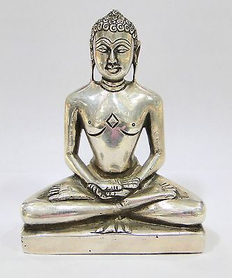 Vintage antique Sterling silver Buddha Statue India