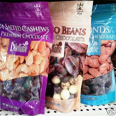 Dilettante Fruit or Nuts Covered in Premium Chocolate Candy 7 oz Bag ~ Pick One