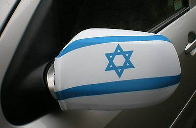 Car Wing Mirror Flags, Covers, Flag-Ups! - Israel