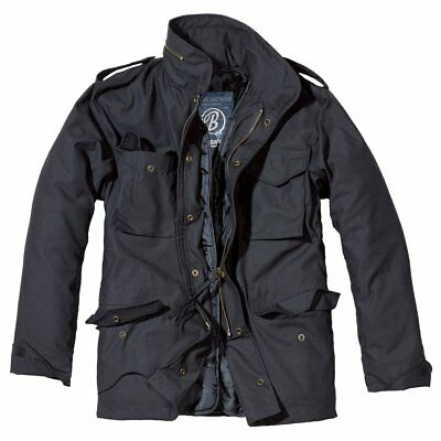 Brandit Classic M65 Jacket Fully Lined Military Army Parka Combat Coat Black