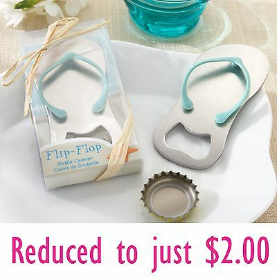 Gift Boxed Flip Flop Thong Beach Metal Bottle Opener Wedding Favour Bomboniere