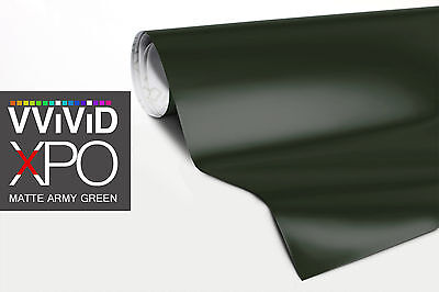 Vvivid Xpo 5ft x 100ft matte army green automotive wrapping film
