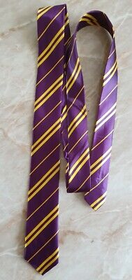Harry Potter Style Purple And Yellow Neck Tie - Adult Size.