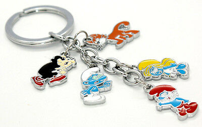 From The Smurfs Toy Keychain Keyring Metal Movie smurf Key Chain New Arrival NEW