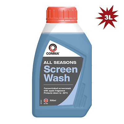 Comma 500ml Screen Wash Concentrated 6pk