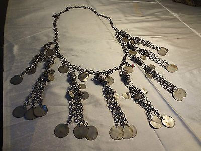 Gorgeous Antique Ottoman Turkish Islamic Silver Necklace Trendy And Stylish
