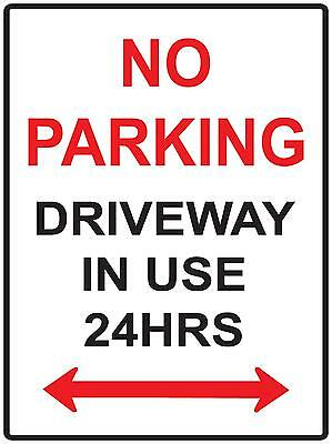No Parking Driveway In Use 24Hrs -  Metal / Aluminium Sign - 300 X 200Mm  Sign