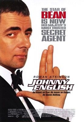 JOHNNY ENGLISH MOVIE POSTER 2 Sided ORIGINAL 27x40 ROWAN ATKINSON