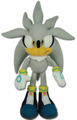 """Great Eastern GE-8960 Sonic The Hedgehog 13"""" inches Plush Doll - Silver"""
