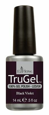 EzFlow TruGel UV/LED Soak Off Gel Polish Black Violet # 42262 - .5 oz 14ml