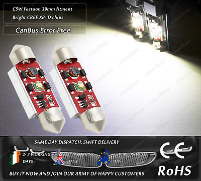2x 39mm 38mm C5W Festoon 239 272 CanBus Compatible License Number Plate Bulbs