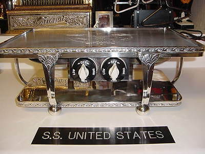 SS UNITED STATES LINES  Silver Plate Warmer  /  Never Used  /  USL-52