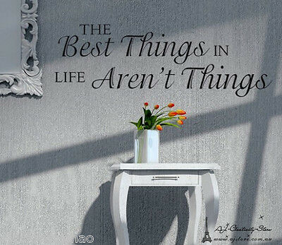 The Best Thing In Life Wall stickers Wall quotes Decal Removable Art Vinyl Decor