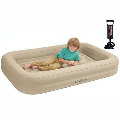 Kids Travel Cot Bed Inflatable Baby Child Toddler Air Beds Sleepover Mattress