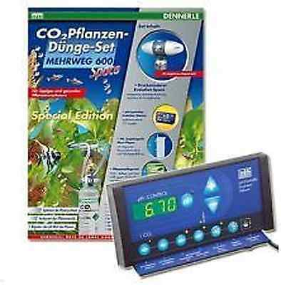 Dennerle Co2-Mehrweg Set Space 600 Special Edition, pH-Controller u. 500g Flasch • EUR 413,99