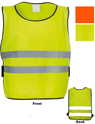 Child Football Bib Apron Reflective Viz Sport Vest Orange Yellow Kid Tabard NEW
