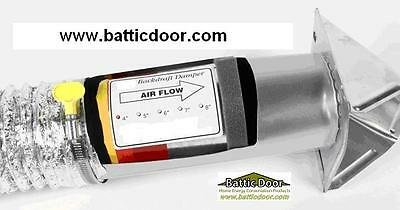 """Premium 4"""" In-Line Duct Back Draft Damper Stop Drafts from Bath and Kitchen Fans"""